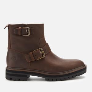 Timberland Women's London Square Biker Boots - Medium Brown Full Grain