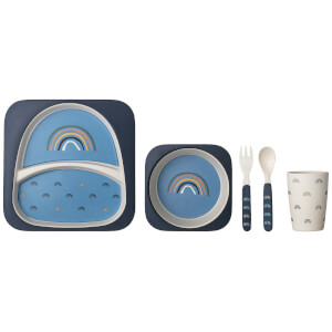 Bloomingville Bamboo Serving Set - Blue