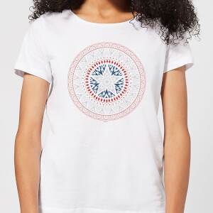 T-Shirt Marvel Captain America Oriental Shield - Bianco - Donna