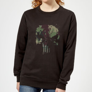Marvel Camo Skull Women's Sweatshirt - Black