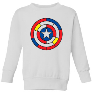 Marvel Captain America Stained Glass Shield Kids' Sweatshirt - White