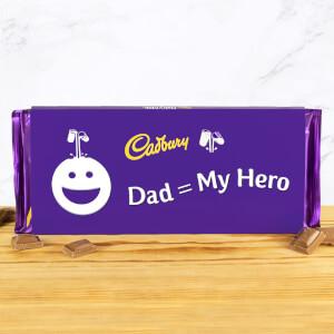 Dad = My Hero - Cadbury Dairy Milk Bar - 360g