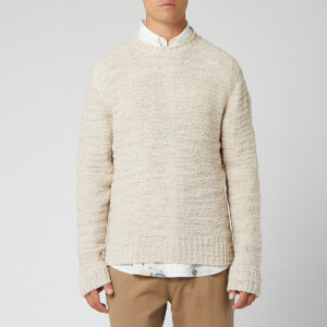 Our Legacy Men's Base Round Neck Raw Wool Mix Jumper - Beige