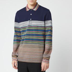 Missoni Men's Long Sleeve Polo Shirt - Multi