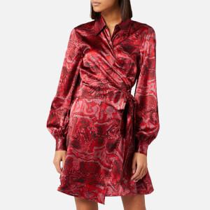 Ganni Women's Silk Stretch Satin Dress - Samba