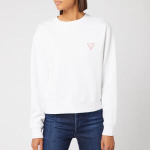 Guess Women's Basic Triangle Sweatshirt - True White