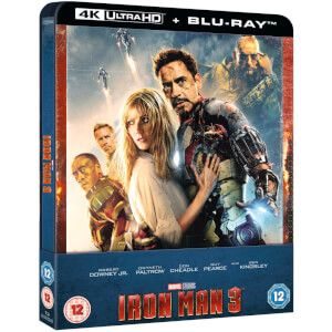 Iron Man 3 - 4K Ultra HD Zavvi Exklusives Steelbook