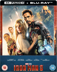Iron Man 3 4K Ultra HD - Steelbook Edición Limitada Exclusivo Zavvi