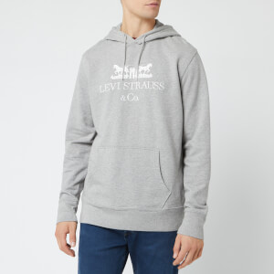 Levi's Men's 90's Logo Text Hoodie - Midtone Heather Grey