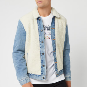 Levi's Men's Sherpa Panel Trucker Jacket - So Sheepy