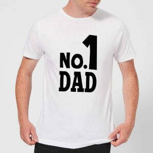 No. 1 Dad Men's T-Shirt - White