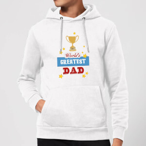World's Greatest Dad With Trophy Hoodie - White