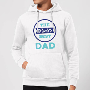 The World's Best Dad Hoodie - White