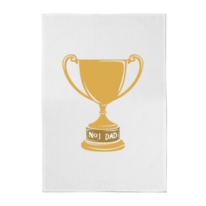 No.1 Dad Trophy Cotton Tea Towel