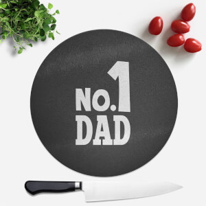 No. 1 Dad Round Chopping Board