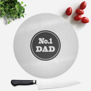 No.1 Dad Round Chopping Board