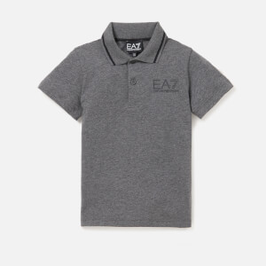 Emporio Armani EA7 Boys' Train Core ID Short Sleeve Polo Shirt - Dark Grey Melange