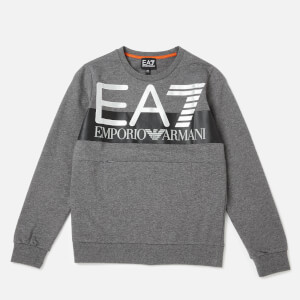 Emporio Armarni EA7 Boys' Train Visibility Sweatshirt - Dark Grey Melange