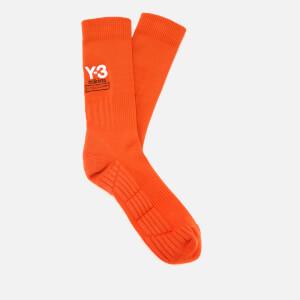 Y-3 Men's Logo Socks - Yohji Red