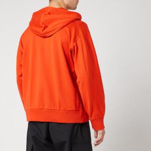Y-3 Men's Staked Badge Full Zip Hoody - Icon Orange