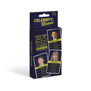 Celebrity Resume Card Game from I Want One Of Those