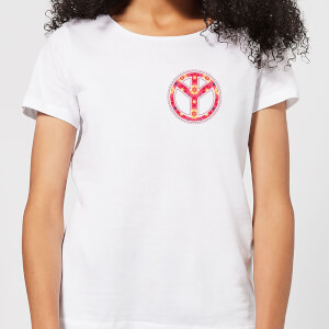 Floral Pattern Peace Symbol Women's T-Shirt - White
