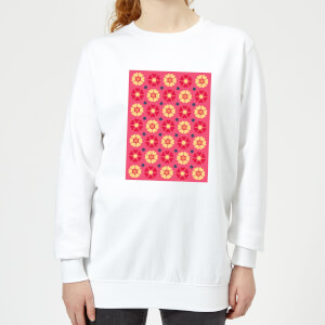 FLORAL PATTERN Women's Sweatshirt - White