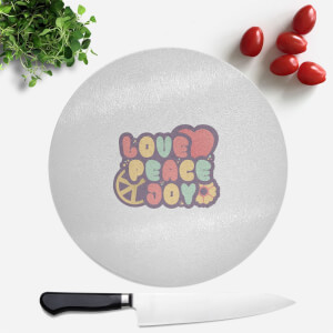 Love Peace Joy Round Chopping Board