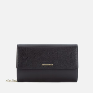 Emporio Armani Women's Large Zip Around Wallet - Black/Red