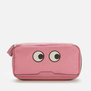 Anya Hindmarch Women's Make Up Eyes Cosmetic Case - Light Clay