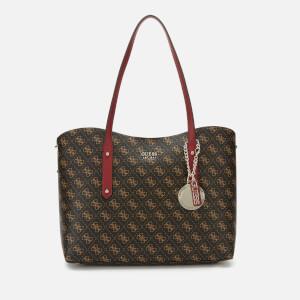 Guess Women's Multi Logo Shopper Bag - Brown