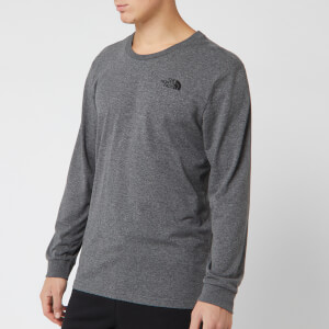 The North Face Men's Long Sleeve Simple Dome T-Shirt - TNF Medium Grey Heather