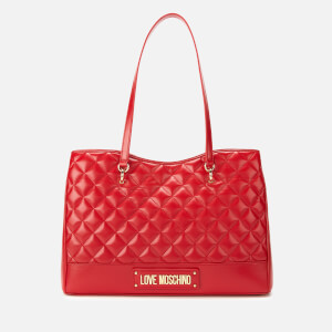 Love Moschino Women's Quilted Shopper Bag - Red