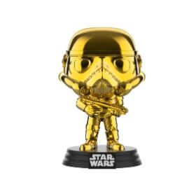 Figurine Pop! Stormtrooper Chrome Or EXC - Star Wars