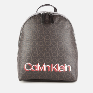 Calvin Klein Women's Monogram Small Backpack - Brown Mono