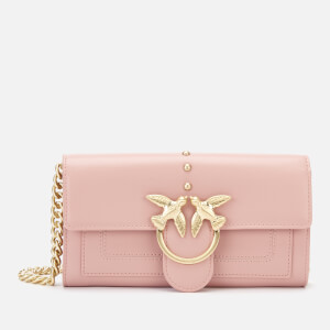 Pinko Women's Houston Wallet On Chain - Peach Skin Pink