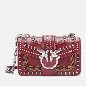 Pinko Women's Mini Love Mix Studs Bag - Port Red