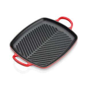 Le Creuset Signature Cast Iron Shallow Rectangular Grill - 30cm - Cerise