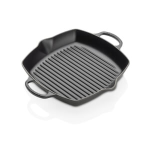 Le Creuset Signature Cast Iron Deep Square Grill - 30cm - Satin Black