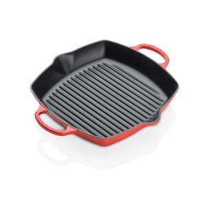 Le Creuset Signature Cast Iron Deep Square Grill - 30cm - Cerise