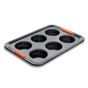 Le Creuset Bakeware Toughened Non Stick 6 Cup Tart Tray
