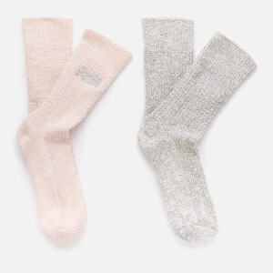 Superdry Women's Superdry Sparkle Sock 2 Pack - Grey Sparkle/Blush Sparkle