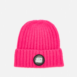 Superdry Women's Super Chunky Ribbed Beanie - Berry Pink