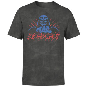 Star Wars Kana Vader Men's T-Shirt - Black Acid Wash