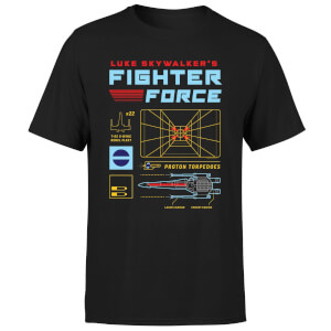 Star Wars Fighter Force Men's T-Shirt - Black