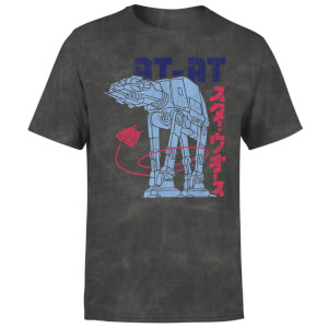 Star Wars Kana ATAT Men's T-Shirt - Black Acid Wash