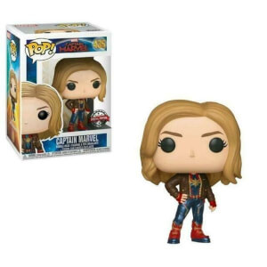 Marvel Captain Marvel Brown Jacket EXC Figura Pop! Vinyl