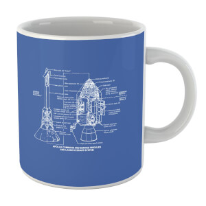 Command And Service Module Schematic Mug