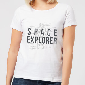 Space Explorer Schematic Women's T-Shirt - White