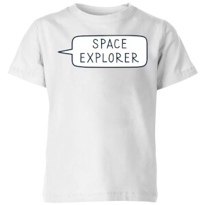 Space Explorer Kids' T-Shirt - White